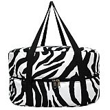 Black Zebra Crock Pot Carrier               #MW-BlackZebraCarrier