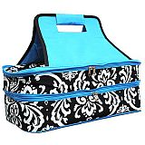 Blue Damask Double Carrier          #MW-BlueDamaskDouble