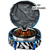 Blue Zebra Crock Pot Carrier          #MW-BlueZebraCrock