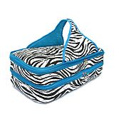 Blue Zebra Quilted Casserole Carrier         #SW-BlueQuilted