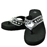 Isabella Black Diamond Flip Flops           #WWD-diamondS029