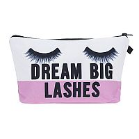 "Pink ""Dream Big Lashes"" Cosmetic Bag       #CH-Dreambig"