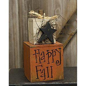 Happy Fall Wood Stacker  #244