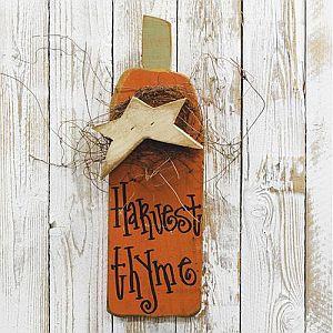 18 Inch Harvest Thyme Pumpkin Sign  #246