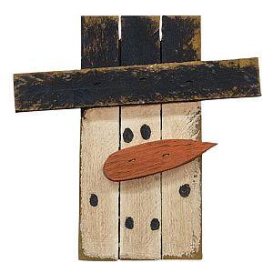 15 Inch Wooden Lath Snowman Head        #14
