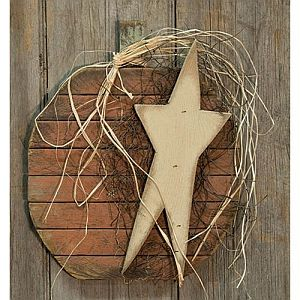 14 Inch Hanging Wood Pumpkin with Star   #315
