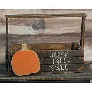 "Happy Fall Ya""ll Wood Crate        #318"