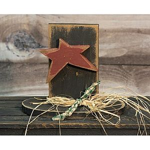 Wooden Snowman Hat With Star   #411