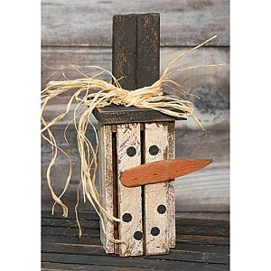 Vertical Wood Crate Snowman   #422