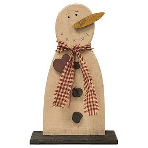 Seven Inch Wood Frosty With Heart        #881