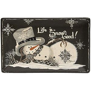 Glass Life Is Snow Cool Small Tray     #3910