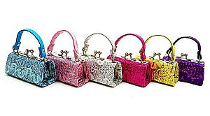 One Dozen Glittery Wave Design Mini Purses  #GLITTERY