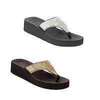 New Rhinestone Gold or Silver Bling Bling Flip Flops  #E-7