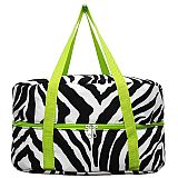 Green Zebra Crock Pot Carrier        #MW-GreenZebraCrock
