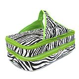 Green Zebra Quilted Casserole Carrier    #SW-GreenQuilted