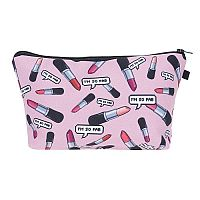 "Pink ""I'm So Fab"" Lip Stick Cosmetic Bag     #CH-FABBAG"