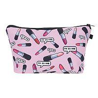 "Pink ""I'm So Fab"" Lip Stick Cosmetic Bag     #CH-FABBAG"
