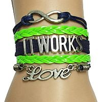 Green & Black It Works Love Bracelet #1itworks