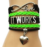 Black & Green It Works Heart Bracelet   #3ITWorks