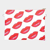 Multiple Red Lips Cosmetic Bag    #F-REDLIPS