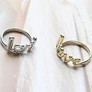 Silver or Gold Love Heart O Ring