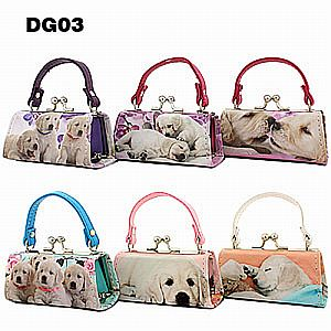 One Dozen Mini Purses Dog Design    #DOG03