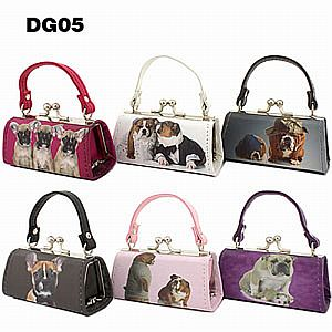 One Dozen Mini Purses Dog Design #DOG05