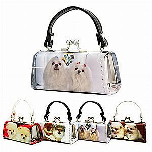 One Dozen Dog Design Mini Purses    HEX-52