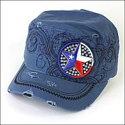 Navy Blue USA Star Hat