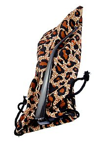Brown Leopard Fabric Sunglass Holder             O-brown