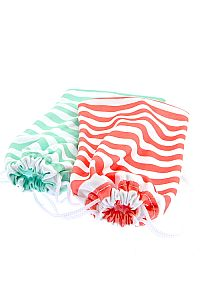 Bright Stripes Fabric Sunglass Holder   #O-Stripe