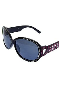 Hot Pink Rhinestone Star Sunglasses         O-pink-JSE-3625