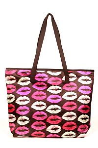Multiple Pink Kiss Lips Tote Handbag   #FG-Slove