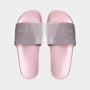 Pink Crystal Slide Sandals        #CRPINKSL