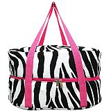 Pink Zebra Crock Pot Carrier           #MW-PinkZebraCrock