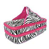 Pink Zebra Quilted Casserole Carrier     #SW-PinkZebraQuilted