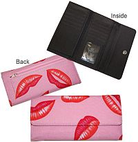 Large Pink Kiss Lip Wallet   #MGH-PinkLip