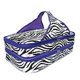 Purple Zebra Quilted Casserole Carrier      #SW-PurpleQuilted