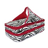 Red Zebra Quilted Double Casserole Carrier  SW-RedQuilted