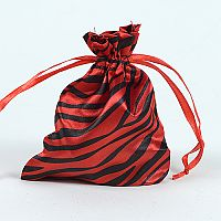 Set of 10 Red Satin Zebra Print Bags   #RedZebra