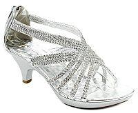 All Rhinestone Beautiful Low Heel Sandals  #FGW-Angel41