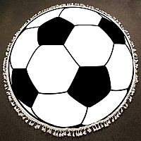 Round Soccer Blanket or Beach Throw      #W-Soccer