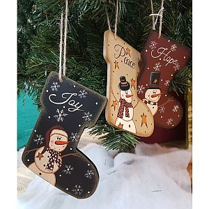 Hand Painted Stocking Ornaments            #Stocking