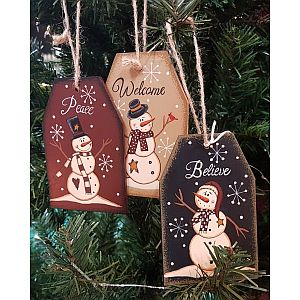 Hand Painted Snowman Tags               #TAGS