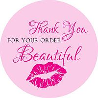 (63) Thank You For Your Order Beautiful Stickers    #MGH-63
