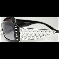 Black Rhinestone Volleyball Sunglasses   #WA-volleyball