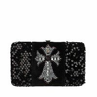 Black Sequin Cross Wallet         #BlackSequin