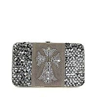 Silver Sequin Cross Wallet           #silversequin