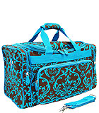 Brown & Blue Damask Bag