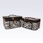 2 Black Zebra Beauty Cases